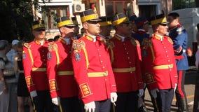 Romanian honor guard stock video