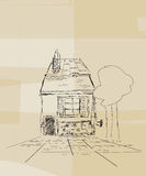 Romanian house sketch Stock Images