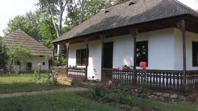 Romanian household - wooden house