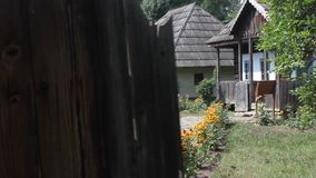 Romanian household - wooden houses