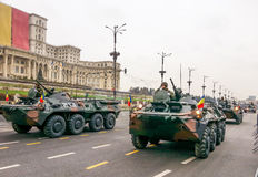 Romanian infantry Stock Image