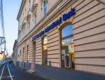 Romanian international bank in Cluj-Napoca Stock Images