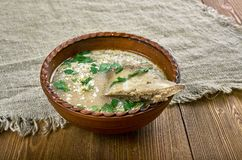 Romanian lamb soup royalty free stock photo