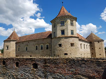 Romanian Landmarks - Fagaras Medieval Castle Royalty Free Stock Photography