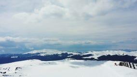Romanian landscape in carpathian mountains. Romanian ski resort in bucegi mountain Royalty Free Stock Images