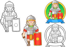 Romanian legionary set of images Royalty Free Stock Photography