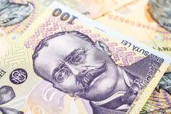 Romanian Lei Banknotes stock photography
