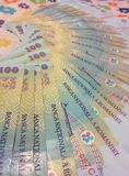Romanian 100 lei Stock Photos