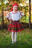 Romanian girl with traditional costume royalty free stock images