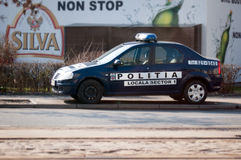 Romanian local police car Stock Photos