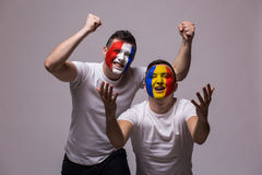 Romanian lose, France win. Stock Photography