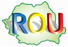 Romanian map Royalty Free Stock Photography