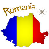 Romanian map Stock Photo