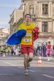 Romanian marathon runner stock photography
