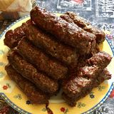 Romanian mici. Minced meat speciality Royalty Free Stock Image