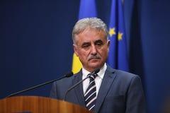 Romanian Minister of Public Finance, Viorel STEFAN Stock Photography