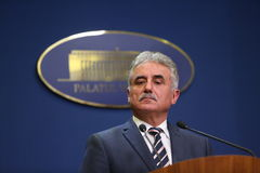 Romanian Minister of Public Finance, Viorel STEFAN Royalty Free Stock Image