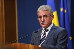 Romanian Minister of Public Finance, Viorel STEFAN Stock Photo