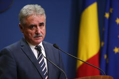 Romanian Minister of Public Finance, Viorel STEFAN Royalty Free Stock Photography