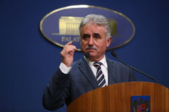 Romanian Minister of Public Finance, Viorel STEFAN Royalty Free Stock Images