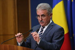 Romanian Minister of Public Finance, Viorel STEFAN Stock Image