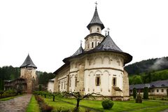 Romanian monastery. Monastery from Putna in northern Moldavia, Romania royalty free stock photos