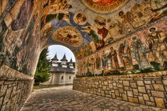 Romanian monastery. Durau monastery, Eastern Carpathians, Romania Royalty Free Stock Photography