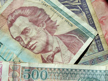 Romanian money. Close up of some vintage romanian banknote Royalty Free Stock Photos