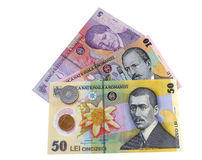 Romanian money Royalty Free Stock Photo