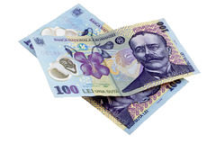 Romanian 100 lei banknotes Stock Photos