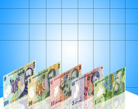Romanian money exhibition Stock Image