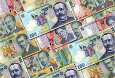 Romanian Money Lei Collection Stock Images
