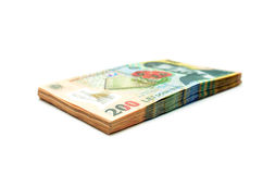 romanian money pile Stock Photography