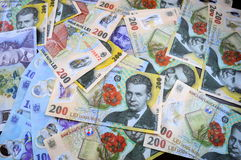 Romanian money Royalty Free Stock Image