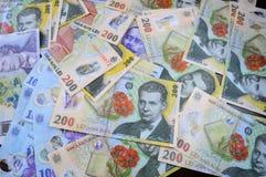 Romanian money Royalty Free Stock Photo