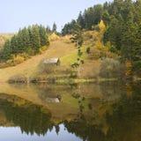 Romanian mountain landscape stock photo