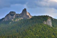 Romanian mountain peak landmark. The lady stones - one of the Romanian mountain landmark peak in the Romanian Carpathians Royalty Free Stock Image