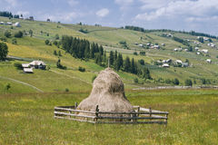 Romanian mountain village Royalty Free Stock Photos