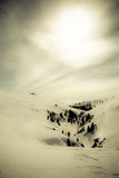 Romanian Mountain winter landscape Royalty Free Stock Photo