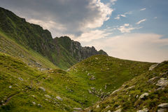 Romanian mountains, Carpathians, with green mountainsides Stock Photography