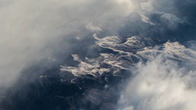 Romanian Mountains From Above Royalty Free Stock Image