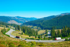Romanian mountains highway Stock Photography