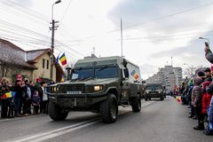 Romanian National Day military parade army vehicule Royalty Free Stock Image