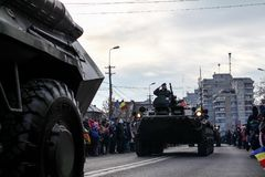 Romanian National Day military parade tank army vehicule Stock Photography