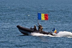 Romanian navy celebrations. On 15th august, every year, the romanian are celebrating the romanian navy. In the waters near the shore of the Black Sea, in Royalty Free Stock Photos