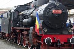 Romanian old steam locomotive Stock Image