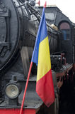 Romanian old steam locomotive Royalty Free Stock Photos
