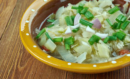 Romanian onion soup Royalty Free Stock Image