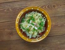 Romanian onion soup Stock Photo