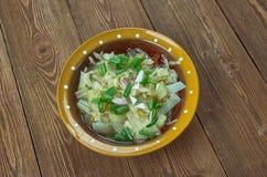 Romanian onion soup stock images